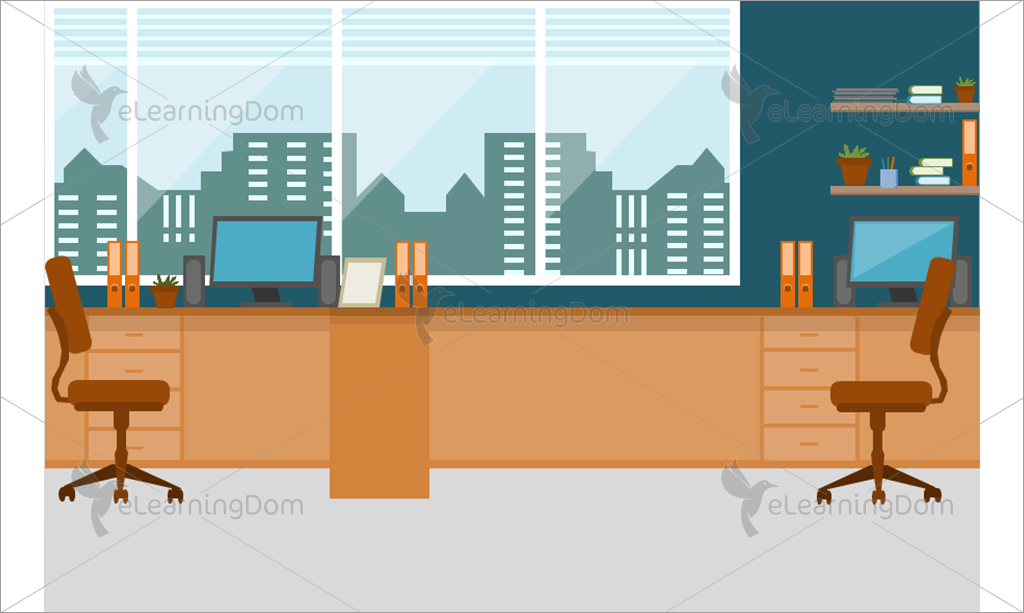 Workplace for Two Employees - eLearningDom