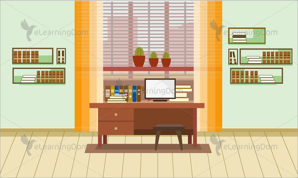 Fantastic Home Study Area Or Work Desk Elearningdom Home Remodeling Inspirations Cosmcuboardxyz