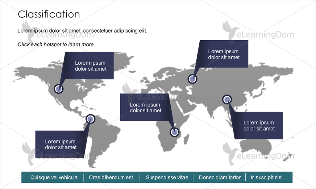 World Map with Clickable Hotspots - eLearningDom on