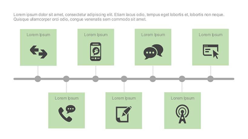Adobe Captivate Template Of The Week: Timeline With Text And Icon