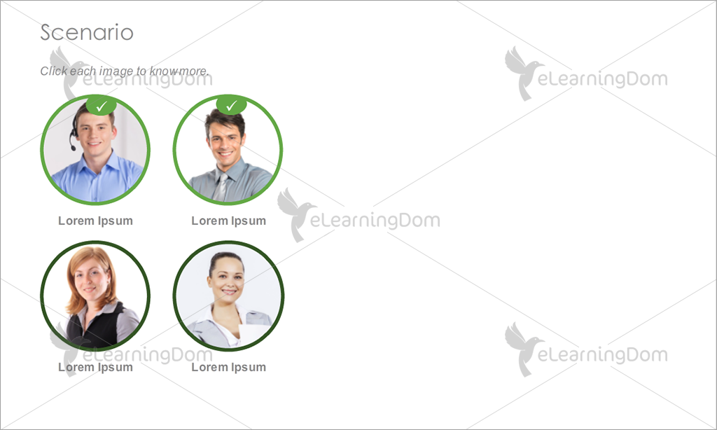 Multiple Characters Scenario with Popup - eLearningDom