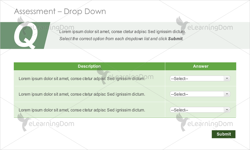 Short Text Multi-Option Drop-down