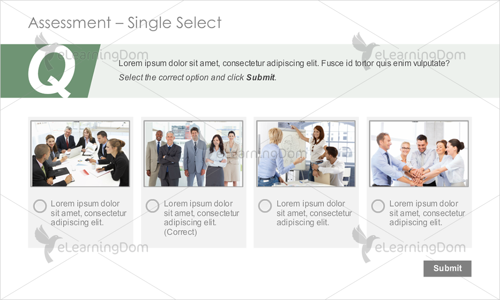 Image-based Single Select Functionality