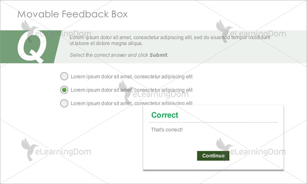 Movable Feedback Box