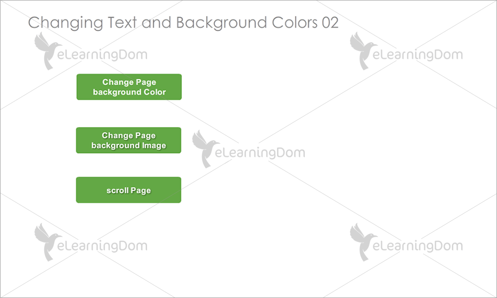 Customize Colors of Text and Background