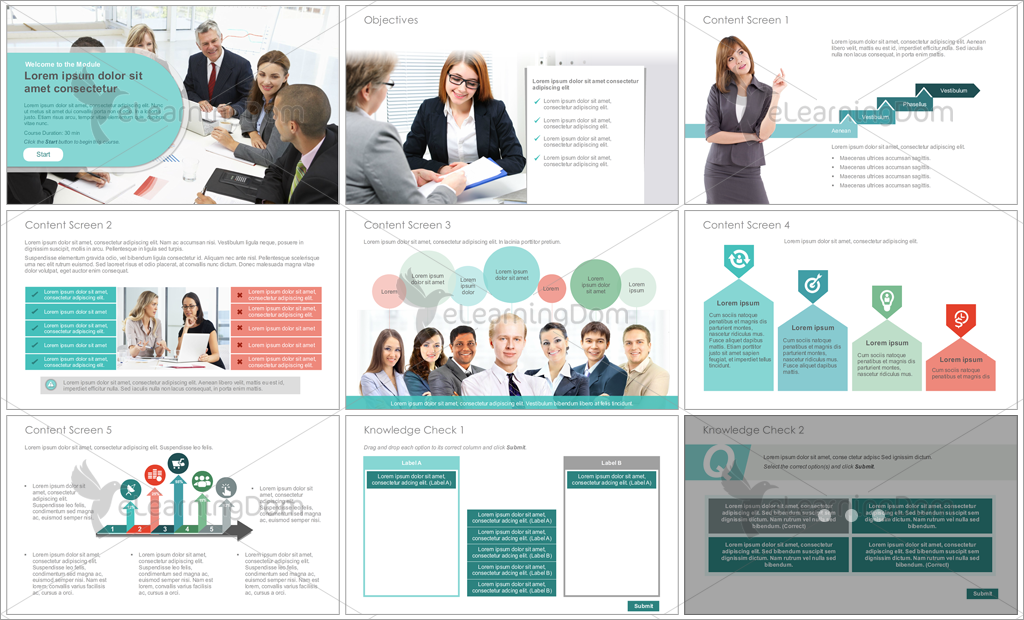 Articulate Storyline Course Starter Templates For