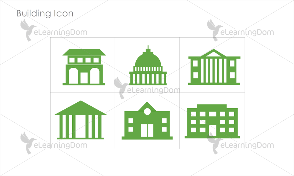 Building Icons - Set 6