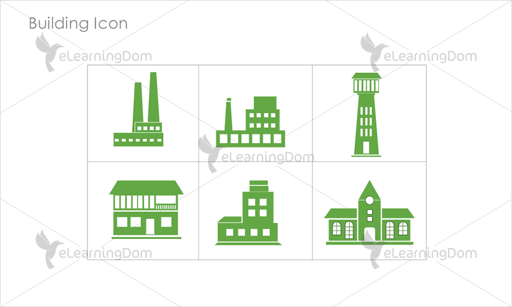 Building Icons - Set 8