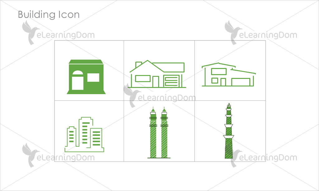 Building Icons - Set 11