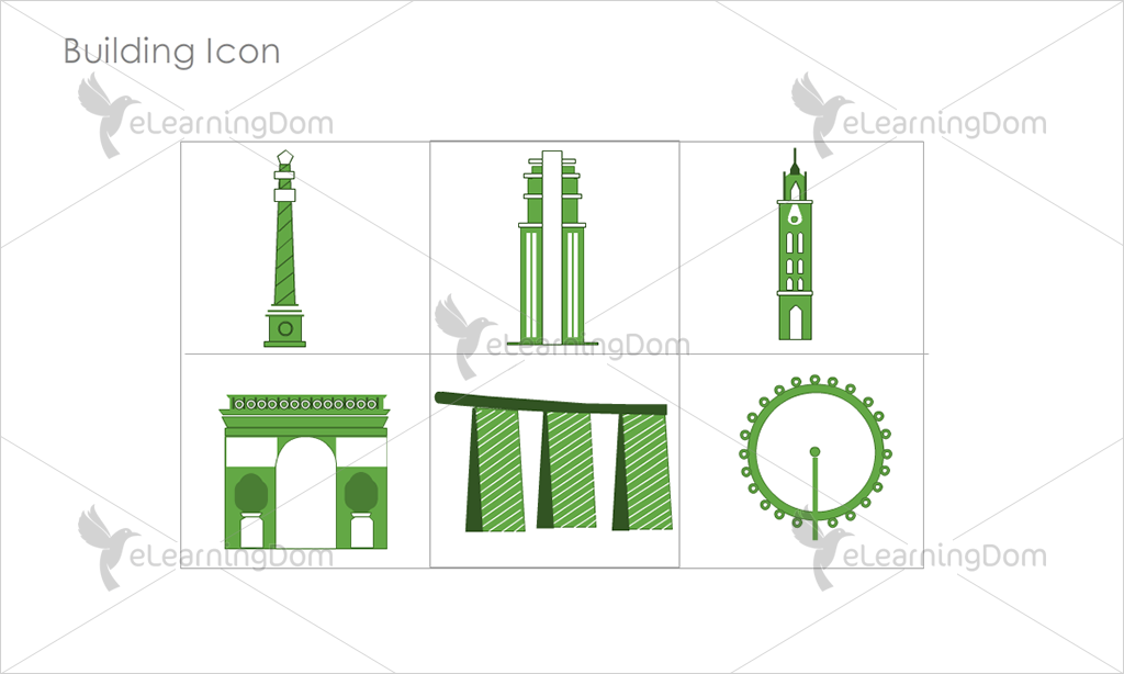 Building Icons - Set 12