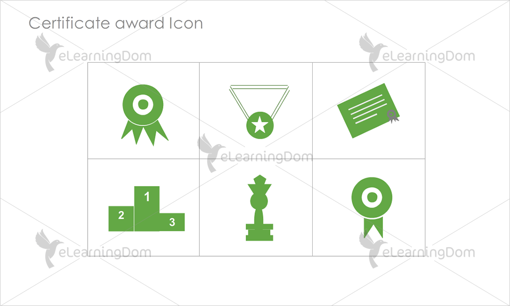 Certificate Awards Icons - Set 1