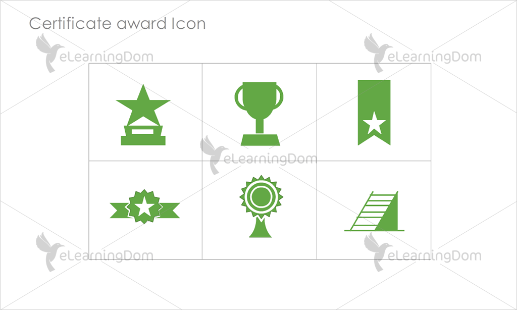 Certificate Awards Icons - Set 2