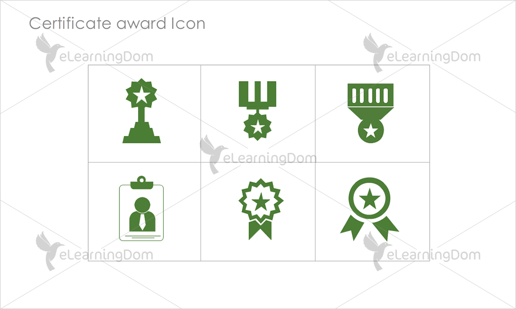 Certificate Awards Icons - Set 3