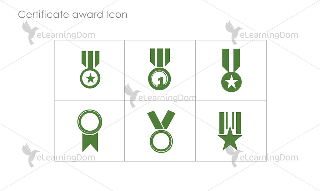 Certificate Awards Icons - Set 4