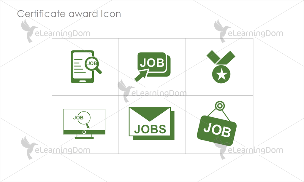 Certificate Awards Icons - Set 5
