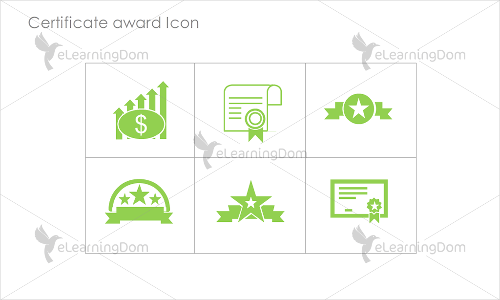 Certificate Awards Icons - Set 6