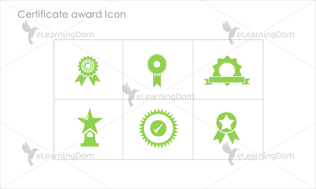 Certificate Awards Icons - Set 7