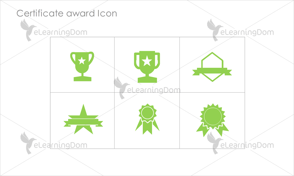 Certificate Awards Icons - Set 8
