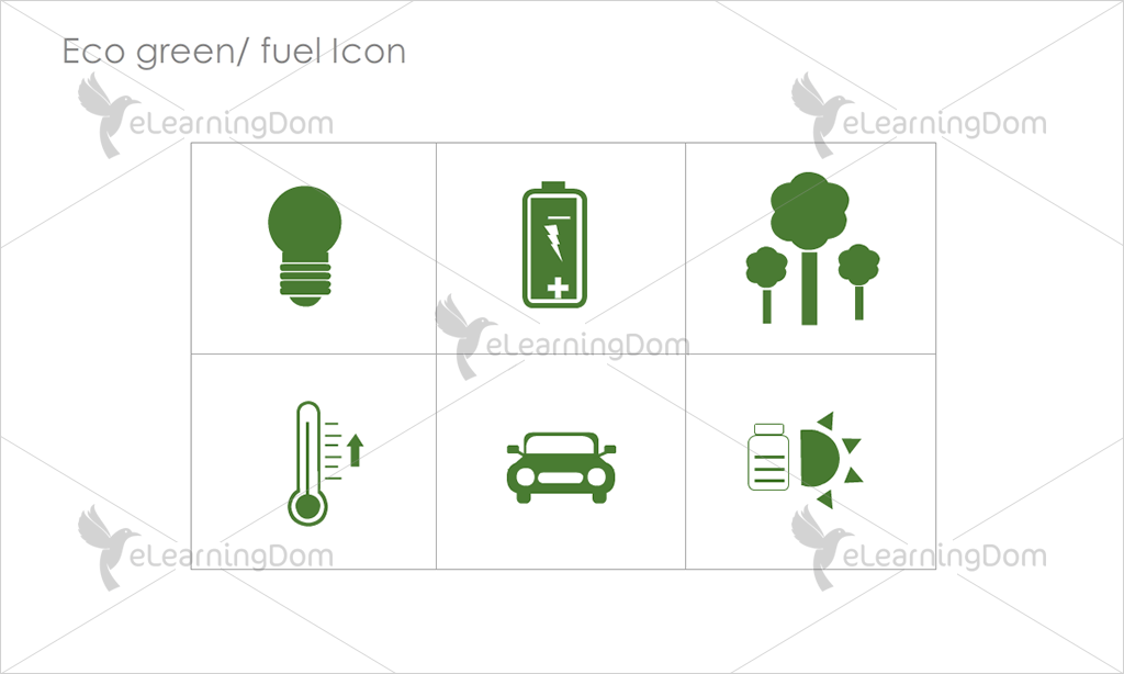Eco Green/Fuel Icons - Set 5