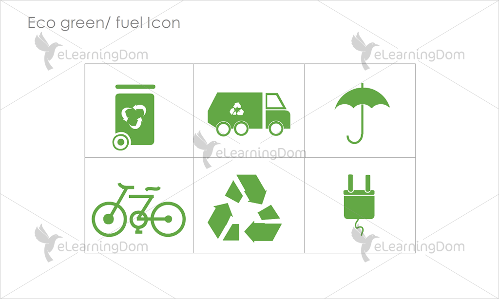 Eco Green/Fuel Icons - Set 6