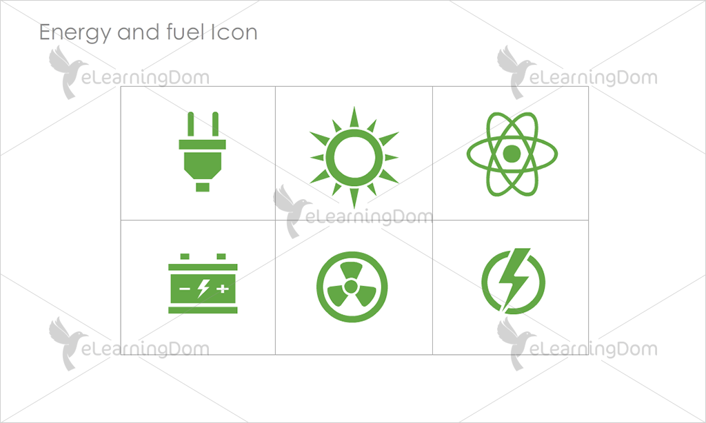 Energy and Fuel Icons - Set 1