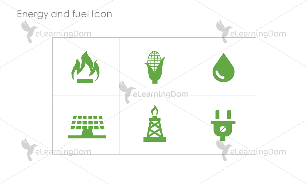 Energy and Fuel Icons - Set 2