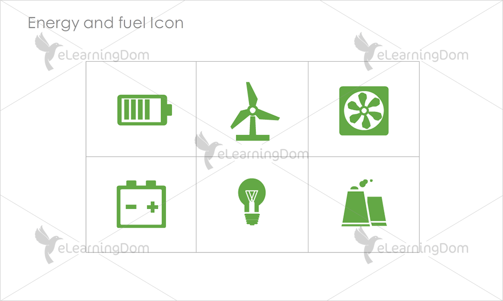 Energy and Fuel Icons - Set 3