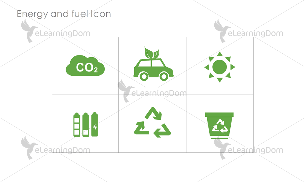 Energy and Fuel Icons - Set 4