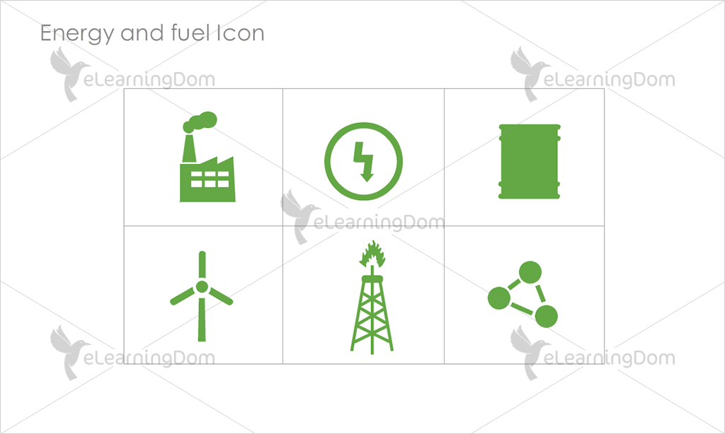 Energy and Fuel Icons - Set 5