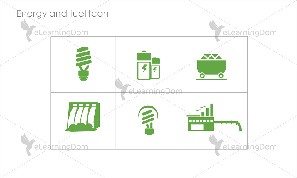 Energy and Fuel Icons - Set 6
