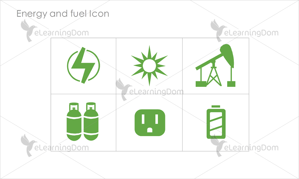 Energy and Fuel Icons - Set 7