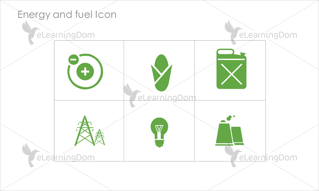 Energy and Fuel Icons - Set 8