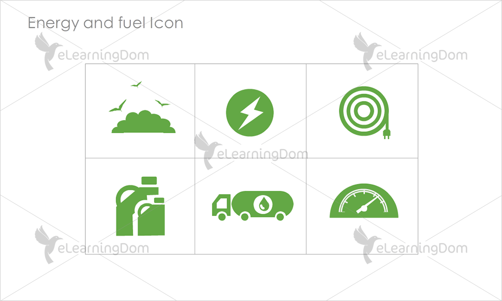 Energy and Fuel Icons - Set 9