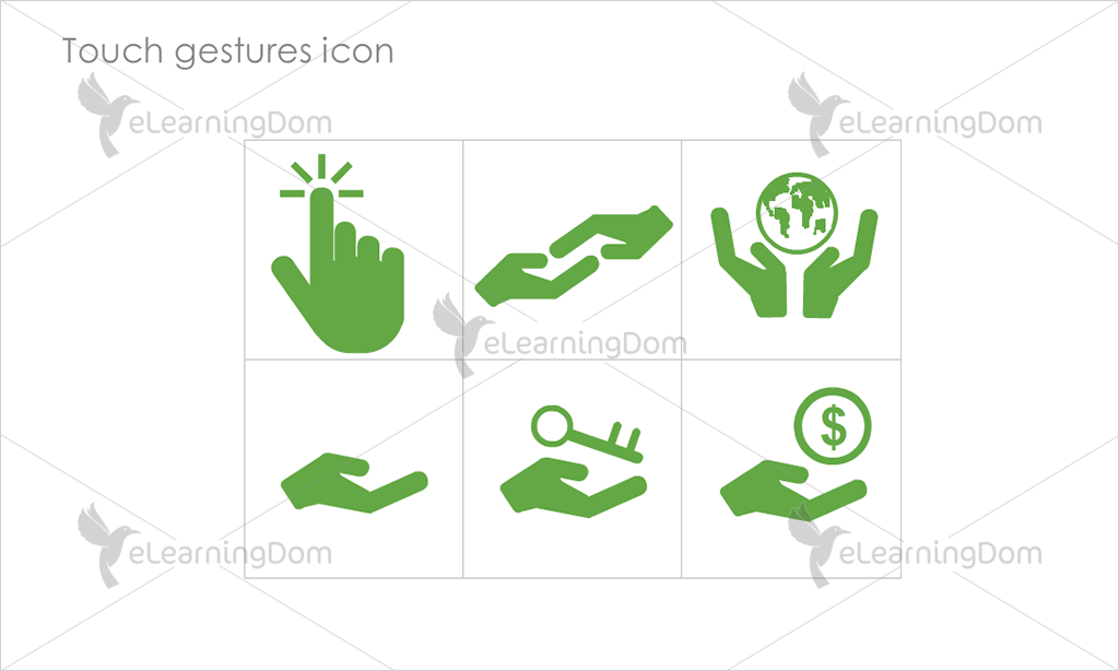 Touch gestures Icons - Set 2