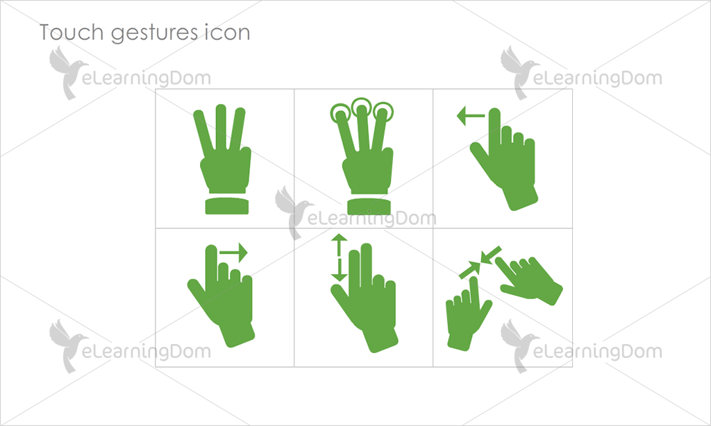 Touch gestures Icons - Set 3