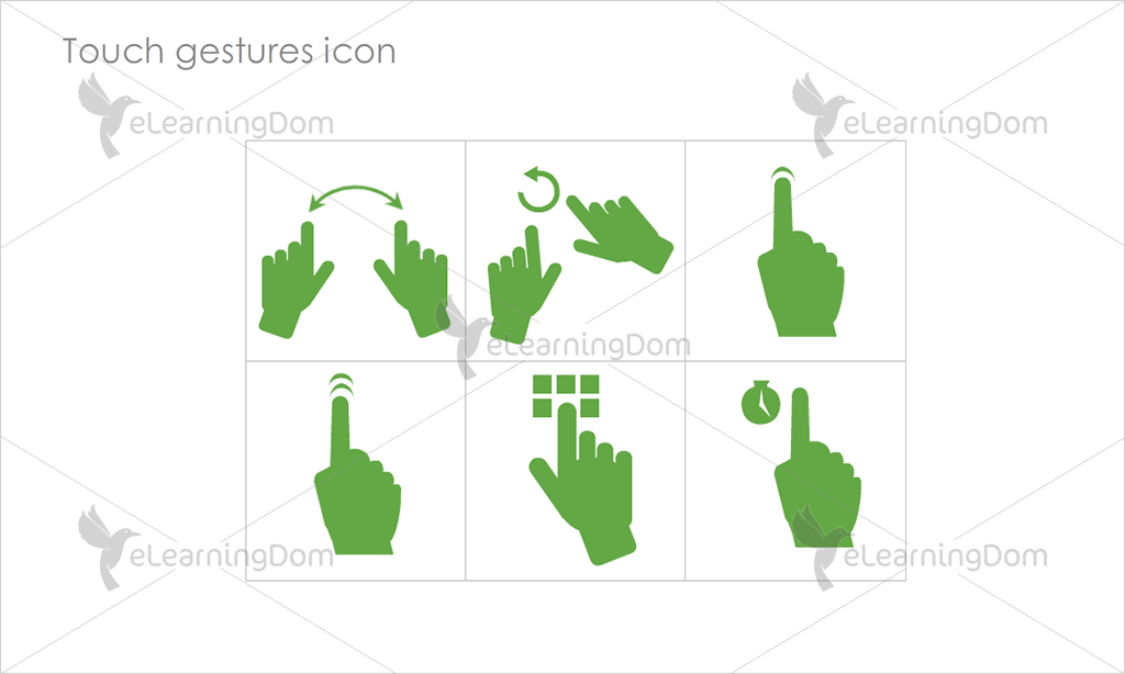 Touch gestures Icons - Set 4