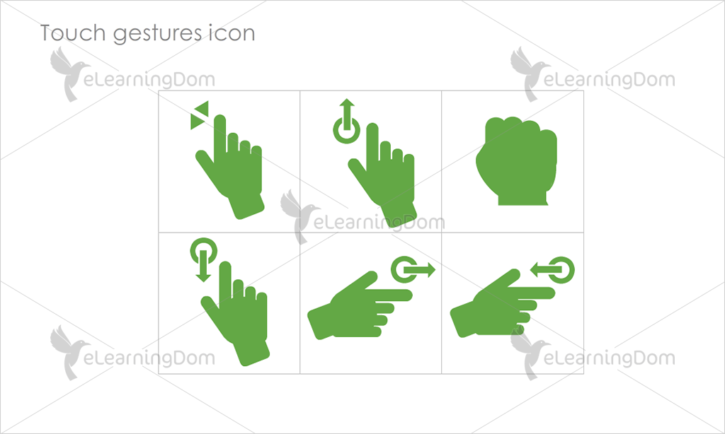 Touch gestures Icons - Set 5