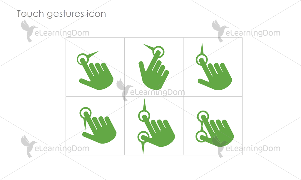 Touch gestures Icons - Set 6