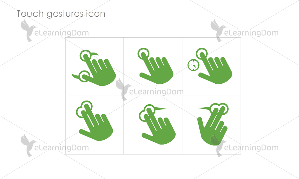 Touch gestures Icons - Set 7