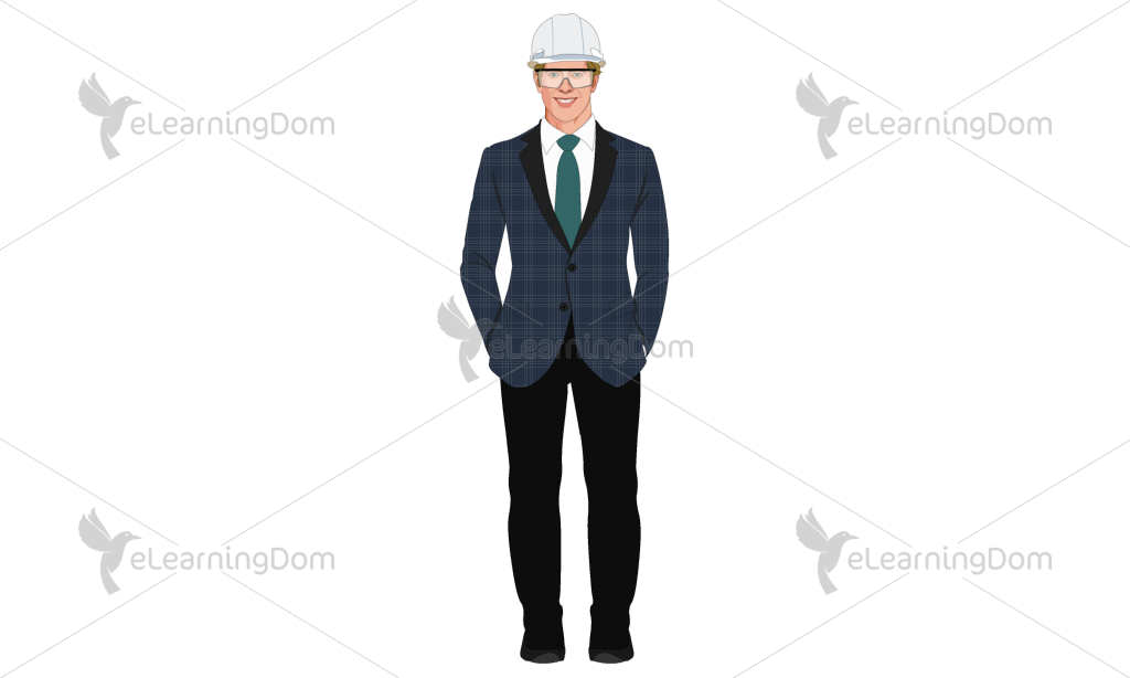 Male Industrial Supervisor in Business suit