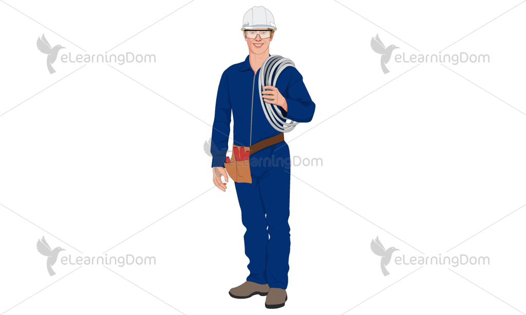 Male Industrial Worker with Equipment