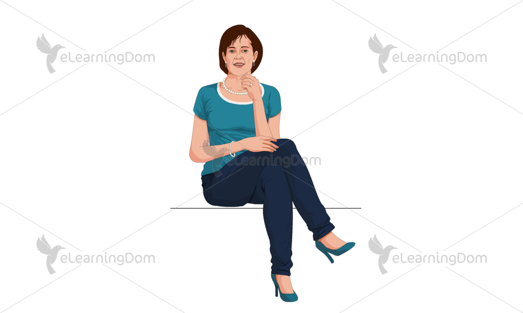 Middle Aged Woman at an Event