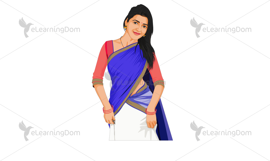 Young Woman Wearing a Saree