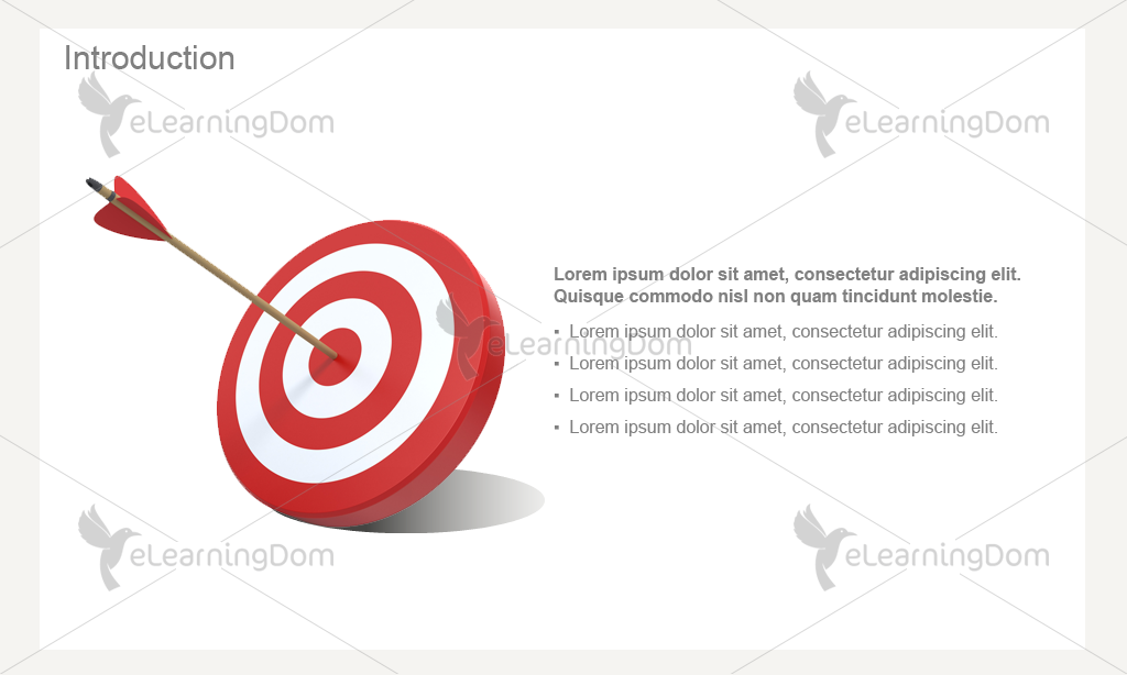 Dartboard and Arrow with Text (Captivate)