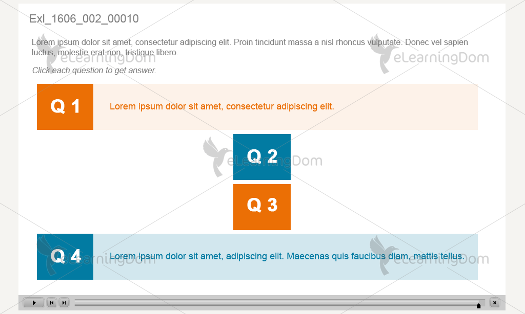 Question Answer with Click Interactivity (Captivate)