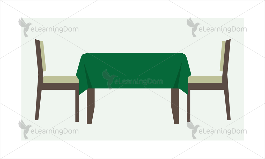 Restaurant Table with Two Chairs