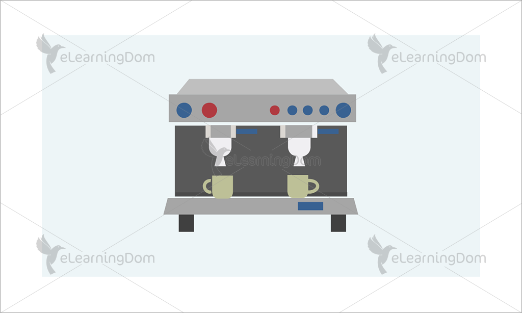 Commercial Beverage Dispenser with Two Cups