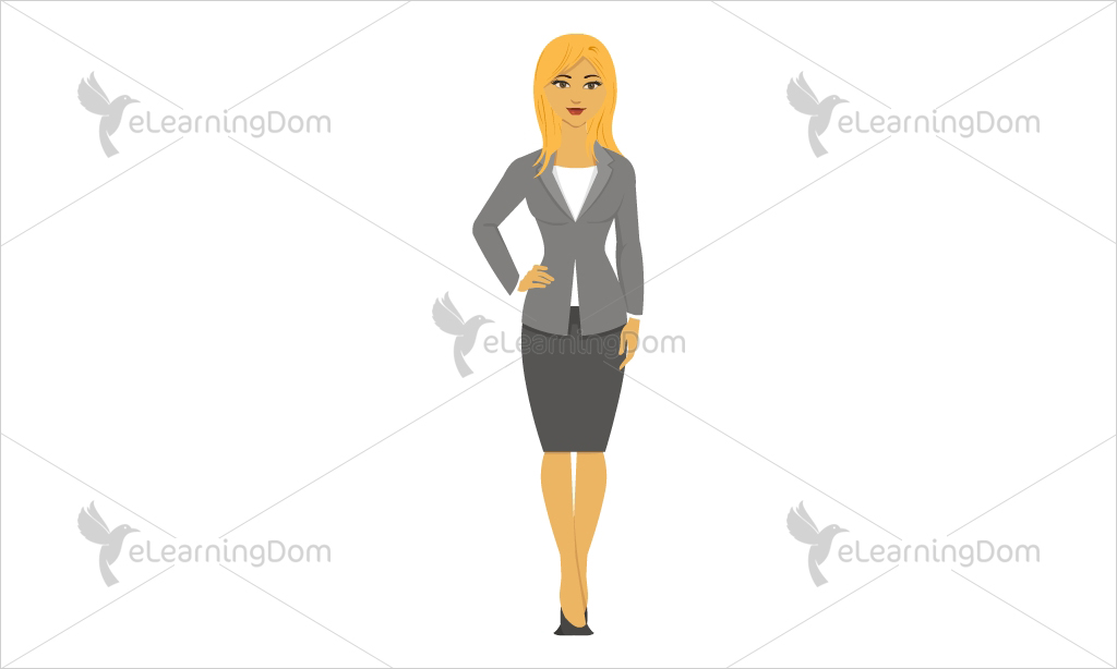 Businesswoman Dressed in Green Formal Jacket